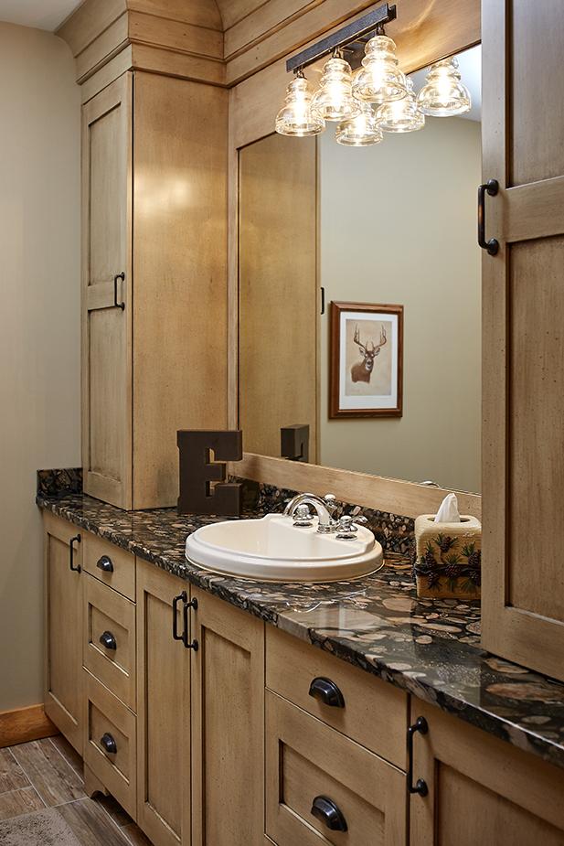 a bathroom inside of the hobbs home