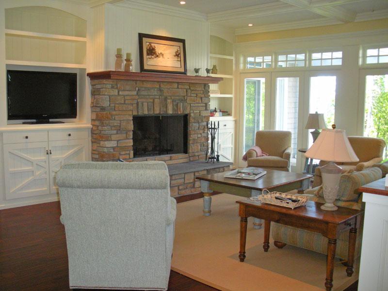 the living room inside the hobbs home
