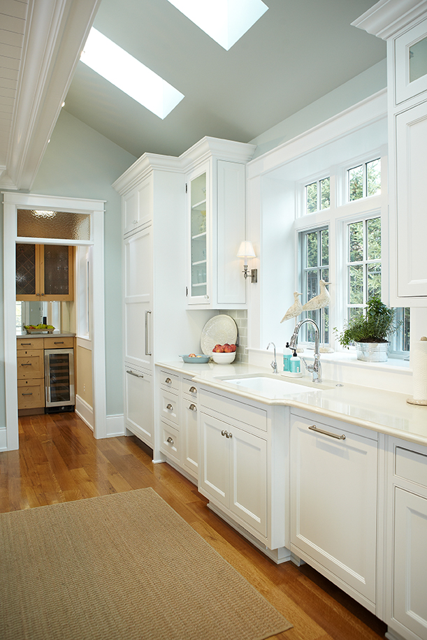 inside the kitchen of a gorgeous mansion home