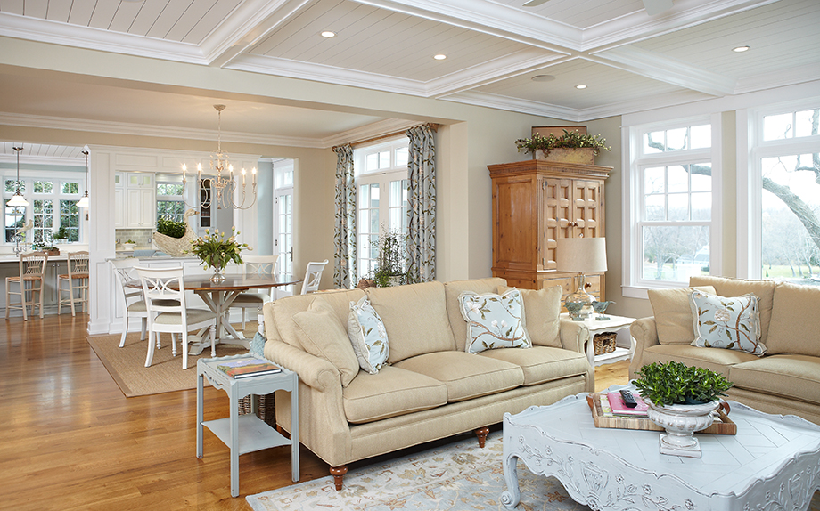 inside the living room of a gorgeous mansion home