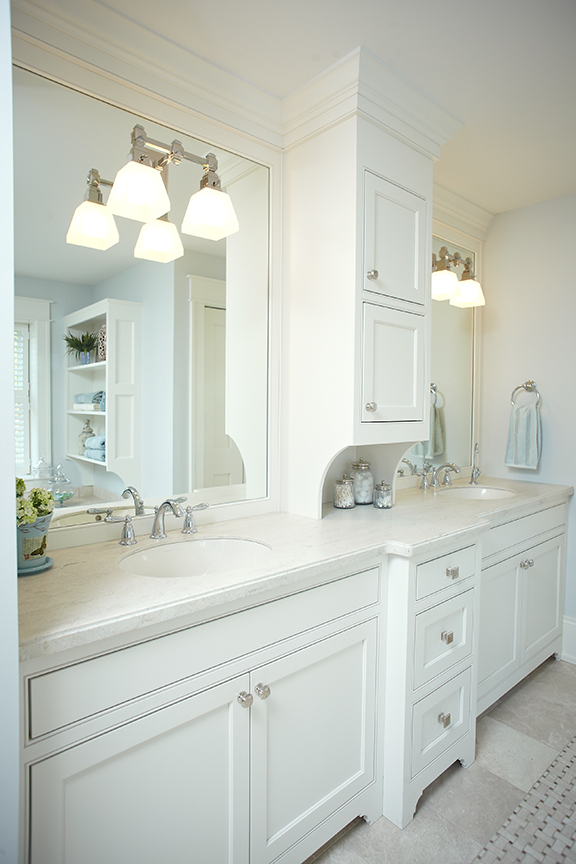 inside a bathroom of a gorgeous mansion home