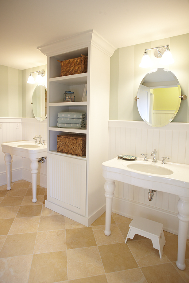 inside a small bathroom of a gorgeous mansion home